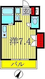 ペルレシュロスパートVIII[1階]の間取り