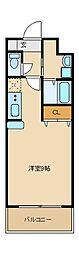 アパートメント玉串[3階]の間取り
