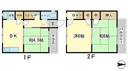[テラスハウス] 兵庫県姫路市辻井1丁目 の賃貸【/】の間取り