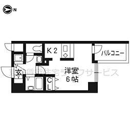 プレサンス京都三条大橋東山苑503[5階]の間取り