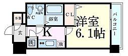 Osaka Metro御堂筋線 東三国駅 徒歩7分の賃貸マンション 9階1Kの間取り