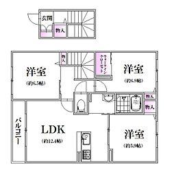 Refisia Garden上安 III番館[2階]の間取り