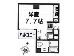 レジデンスSAKURA 8階1Kの間取り