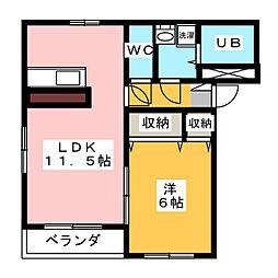 ハイマート岩曽III[2階]の間取り