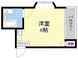 ビルディング5 4階ワンルームの間取り