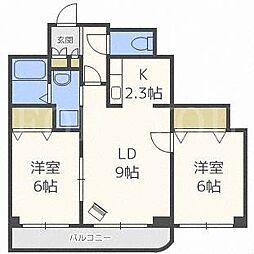 北海道札幌市東区北四十八条東18丁目の賃貸マンションの間取り