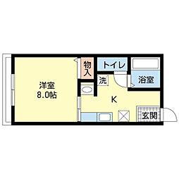 新潟県新潟市中央区鳥屋野4丁目の賃貸アパートの間取り