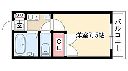 愛知県名古屋市守山区新城の賃貸マンションの間取り