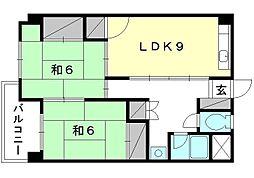 第二朝日ビル[306 号室号室]の間取り