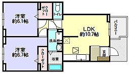 コンフォール津田[1階]の間取り