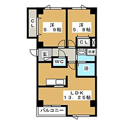 WE21 A[1階]の間取り