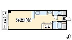 福岡県北九州市小倉北区清水3丁目の賃貸マンションの間取り