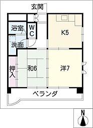 ツーウェイハイツ港栄[5階]の間取り