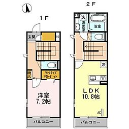 JR南武線 中野島駅 徒歩7分の賃貸アパート 1階1LDKの間取り