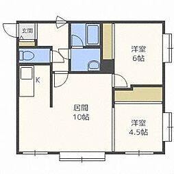 ハビタN33[1階]の間取り