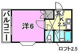 アロッジオ桜ヶ丘[201 号室号室]の間取り