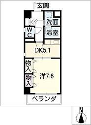 タウン清住[4階]の間取り