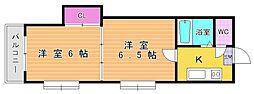 福岡県北九州市小倉北区中島1丁目の賃貸マンションの間取り