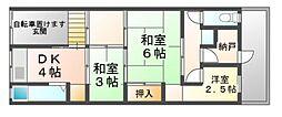 [テラスハウス] 兵庫県尼崎市潮江3丁目 の賃貸【兵庫県 / 尼崎市】の間取り