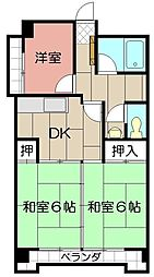 第8岡部ビル[202号室]の間取り