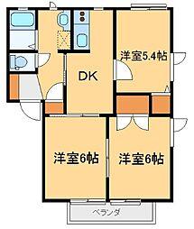 パルA[2階]の間取り