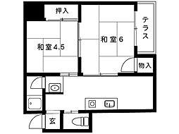 青風荘[1F-5号室]の間取り