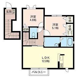 ケイコーポE[2階]の間取り