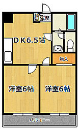 シャンクレール塚本[702号室]の間取り