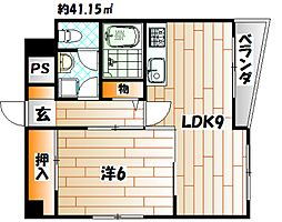 レイズ高須[201号室]の間取り