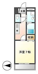 ボヌール新栄[6階]の間取り