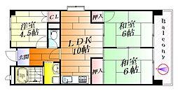 CASA東正雀[4階]の間取り
