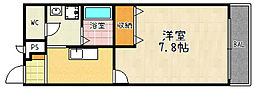 ラフィーネ九条[105号室]の間取り