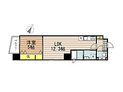 JR京浜東北・根岸線 さいたま新都心駅 徒歩10分の賃貸マンション 8階1LDKの間取り