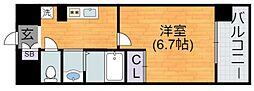 Osaka Metro谷町線 平野駅 徒歩2分の賃貸マンション 5階1Kの間取り