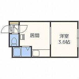 ローヤルハイツ341[1階]の間取り