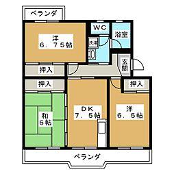 クリエートハイム竹原[3階]の間取り