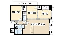 ショーシコン弐番館[507号室]の間取り