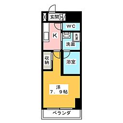 サムティ熱田RESIDENCE 9階1Kの間取り