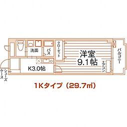沖縄都市モノレール 首里駅 5.2kmの賃貸マンション 1階1Kの間取り