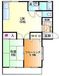 メゾン富士見[103号室]の間取り