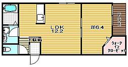 スペースK弐番館[102号室]の間取り