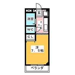 ファインヴィーブル弐番館[1階]の間取り