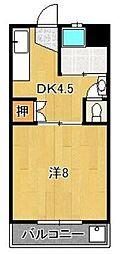 篠山ハイツ[3階]の間取り