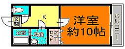 扇町マンションIII[102号室]の間取り