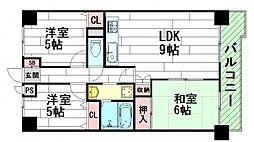 東光苑[4階]の間取り