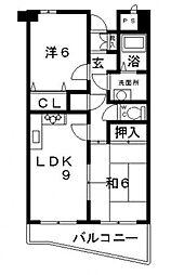 メゾンピアヴィクトアール[3階]の間取り