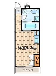 千葉県習志野市実籾1丁目の賃貸マンションの間取り