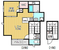 メゾン フローレ[2階]の間取り