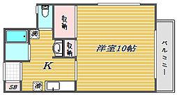 埼玉県戸田市大字下笹目の賃貸アパートの間取り
