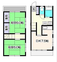 [テラスハウス] 東京都東久留米市下里1丁目 の賃貸【/】の間取り
